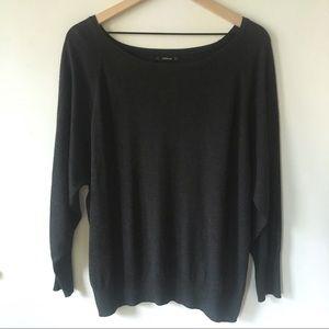 Zara Lightweight Crew Neck Sweater - Charcoal Gray